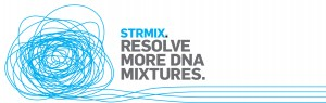 STRmix logo with string